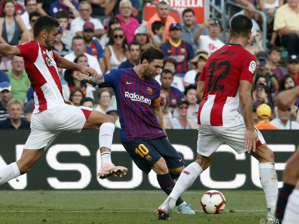 Kein Durchkommen für Superstar Messi