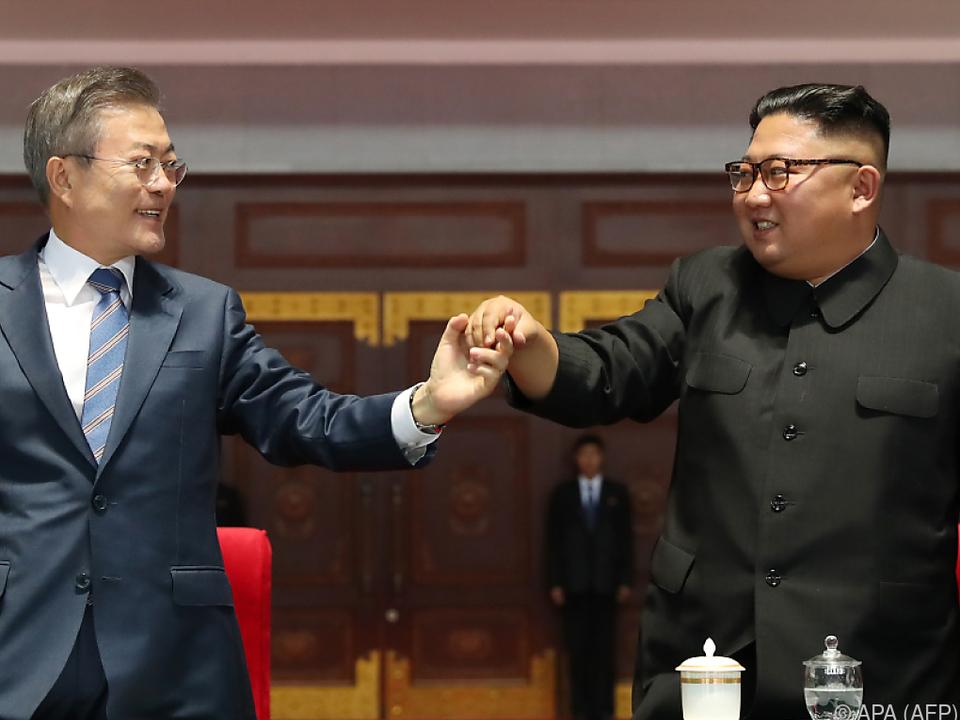 Kim und Moon trafen einander in Pjöngjang