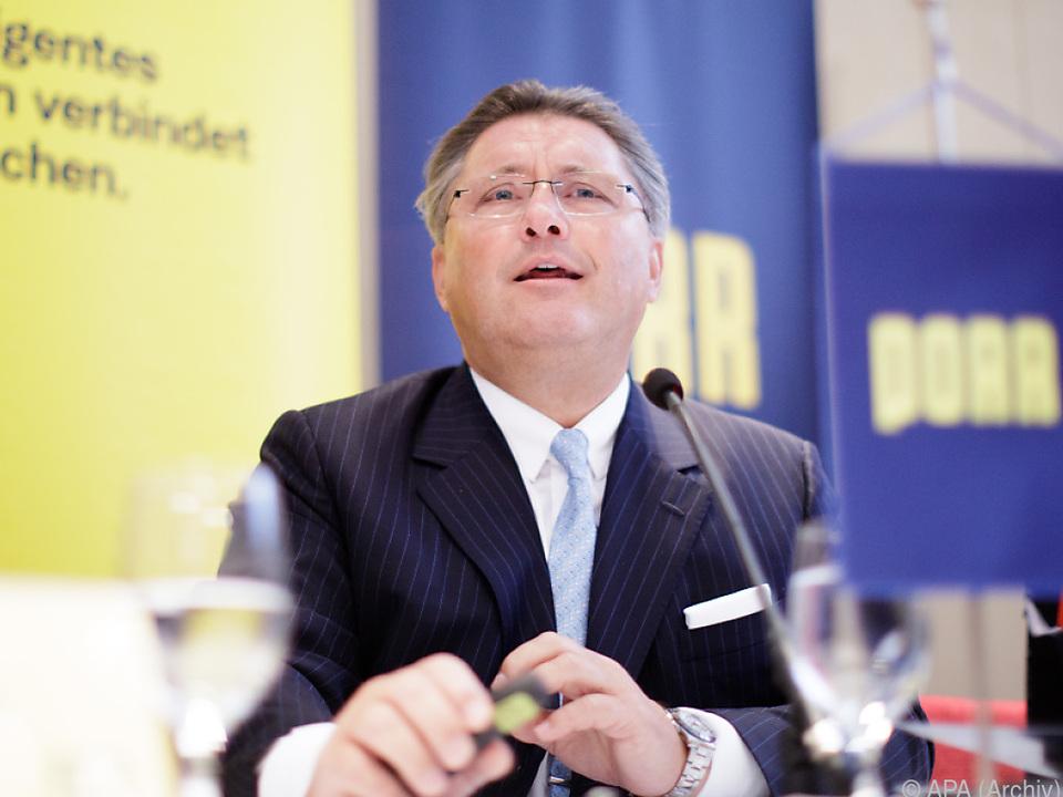 Konzernchef Karl-Heinz Strauss verzeichnet einen \