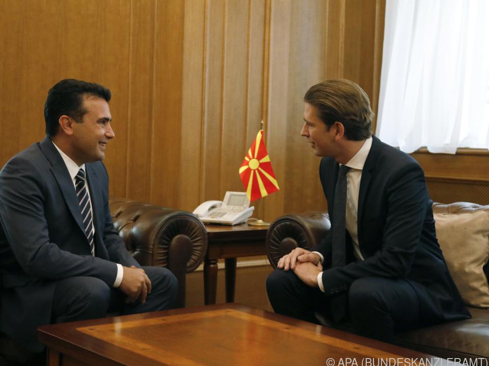 Kurz sicherte Zaev seine volle Unterstützung zu