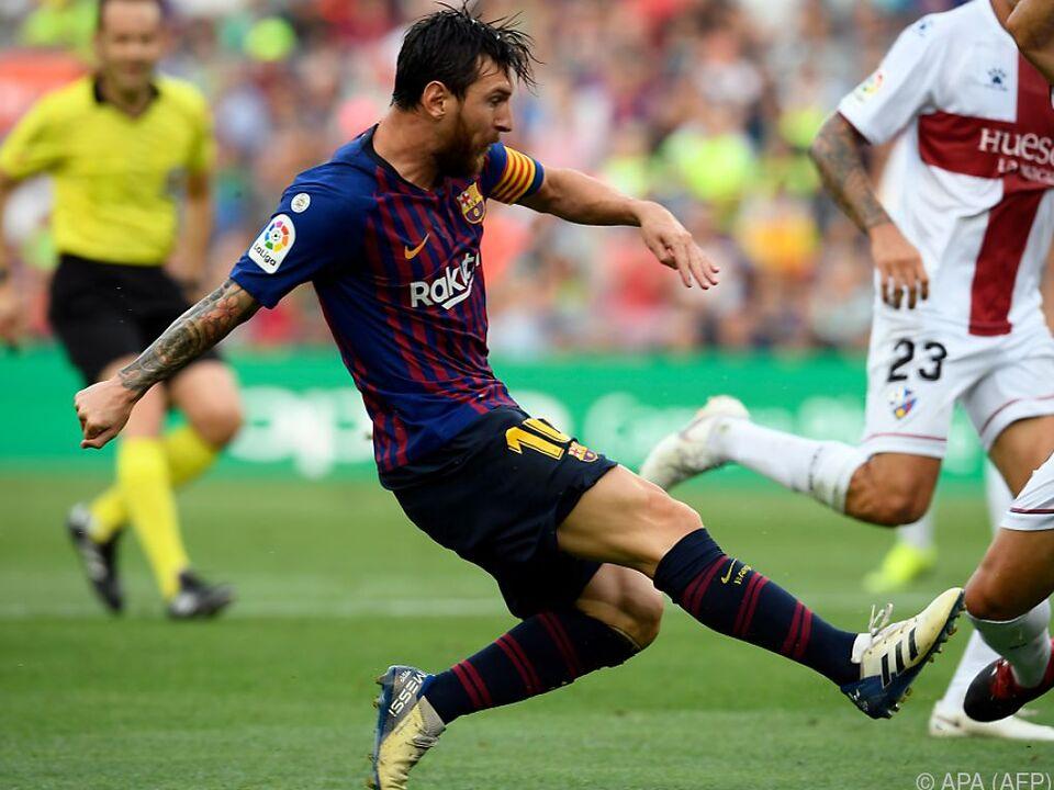 Lionel Messi eröffnet Barcelonas Trefferreich in Minute 16