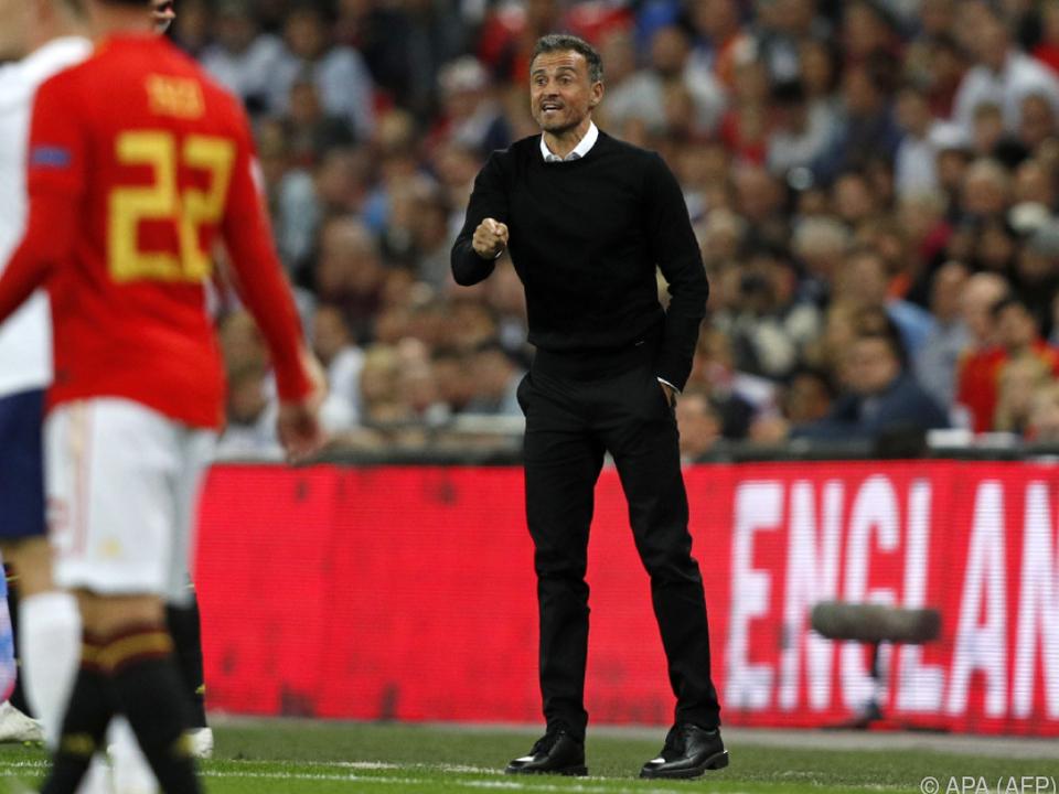 Luis Enrique erstmals bei Spanien an der Seitenlinie