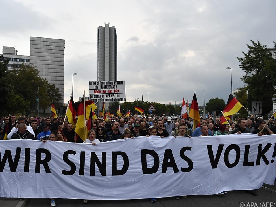 Marsch der Rechten durch Chemnitz