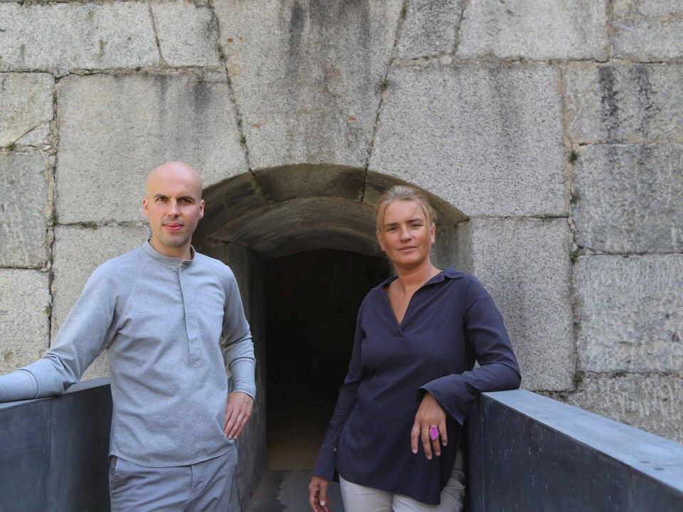 Michael Fliri und Julia Bornefeld in der Festung Franzensfeste - lr