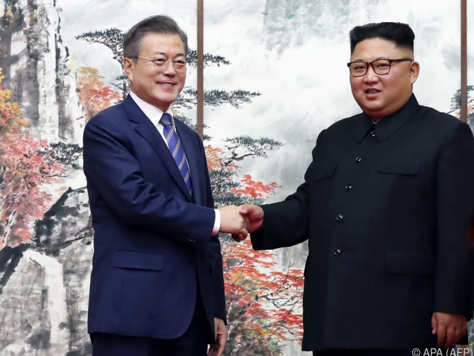 Moon kündigte die Kandidatur bei einem Treffen mit Kim an