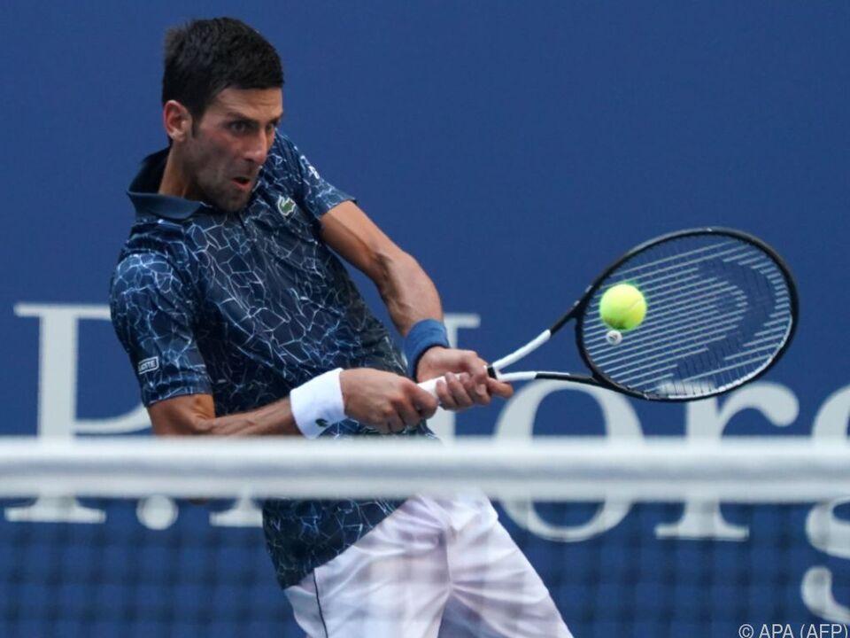 Novak Djokovic steht in New York im Viertelfinale