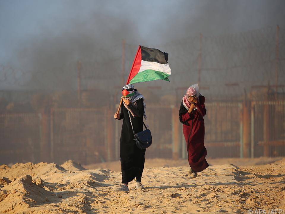 Palästinenser protestierten gegen Gaza-Blockade
