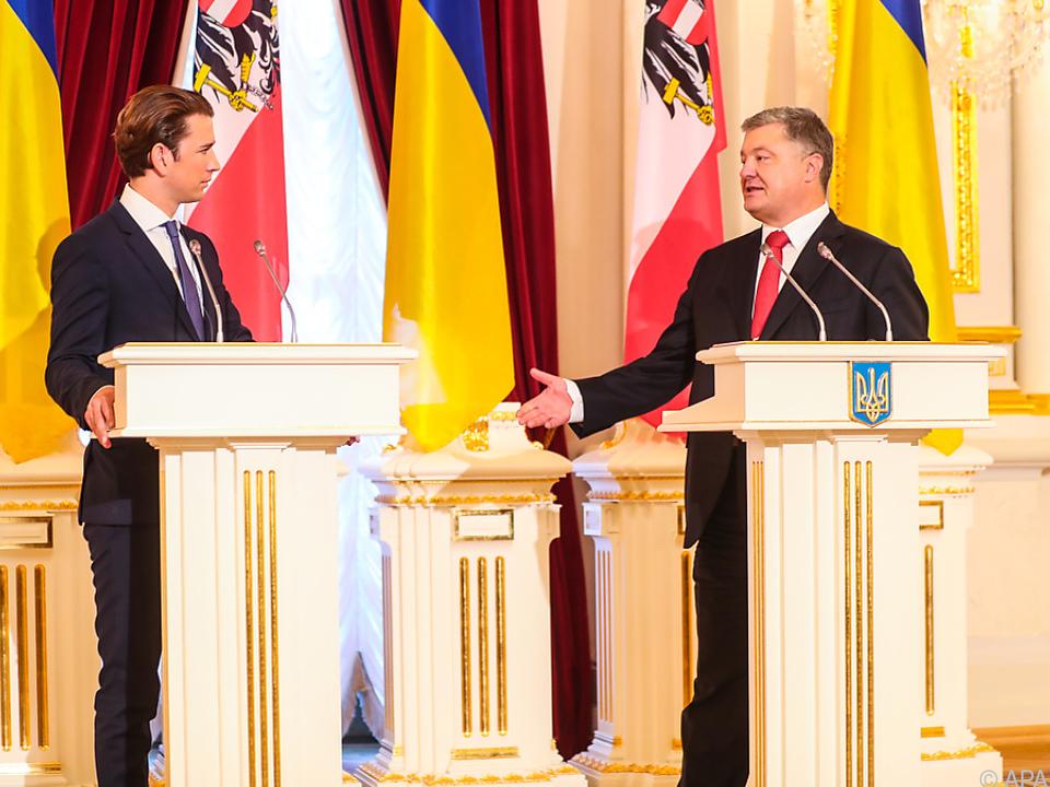 Poroschenko äußerte sein Vertrauen in Kurz