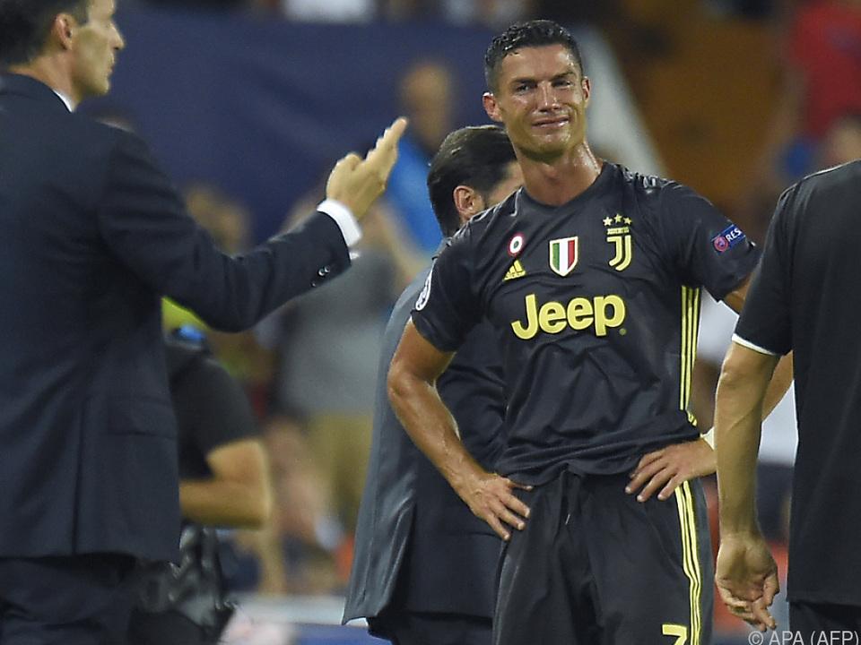 Ronaldo war über die Entscheidung fassungslos