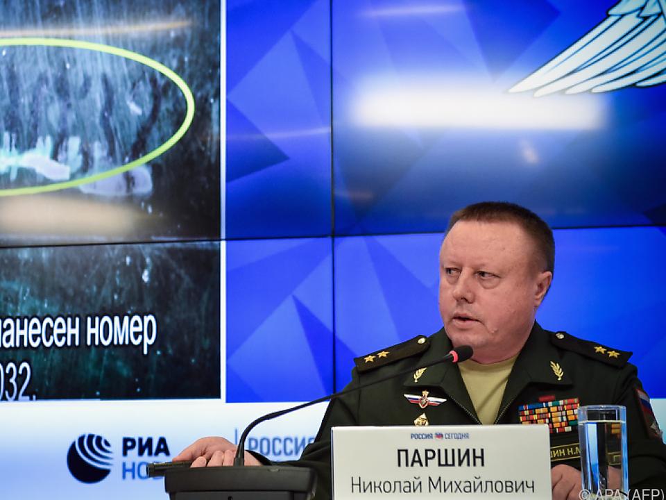 Russische Militärs legt angebliche Beweise vor