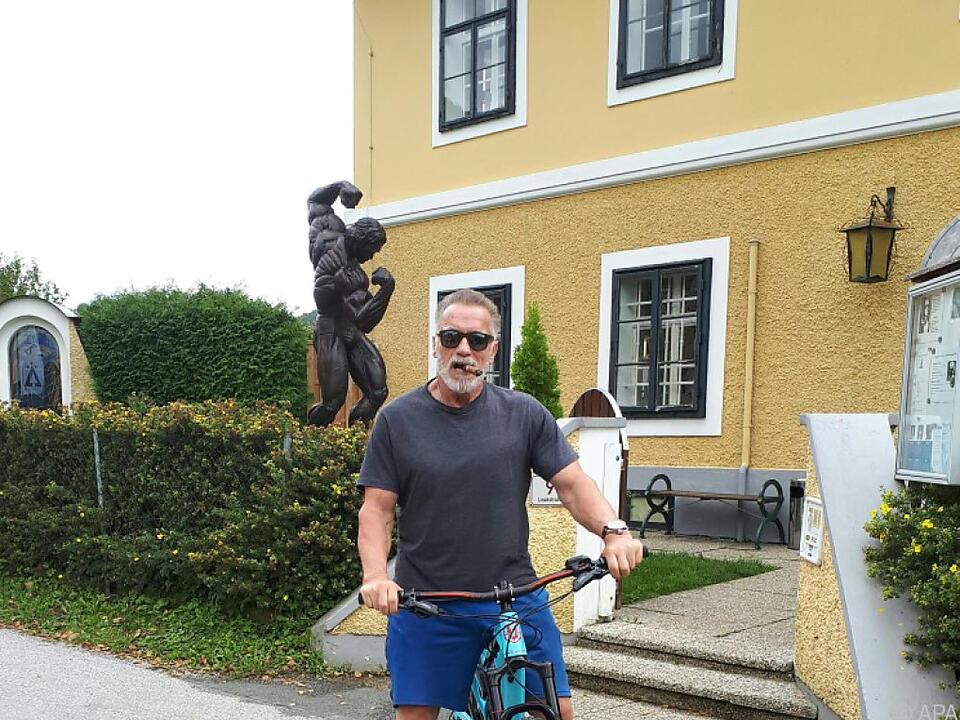 Schwarzenegger auf Kurzbesuch in der Steiermark