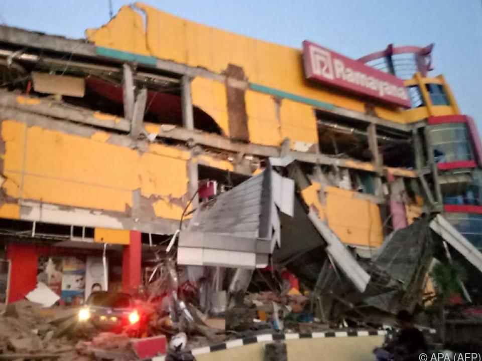 Schwere Zerstörungen in Palu auf Sulawesi
