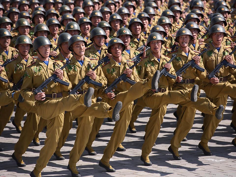 Soldatenparade in Pyongyang