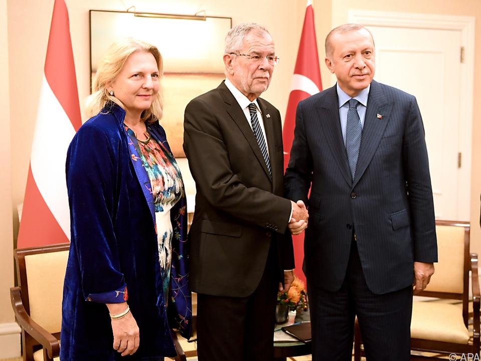 Spontanes Treffen zwischen Van der Bellen und Erdogan