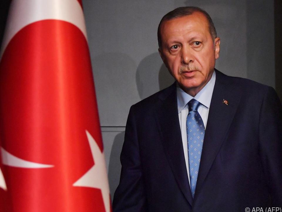 Staatspräsident Erdogan ist ein Gegner von hohen Zinsen