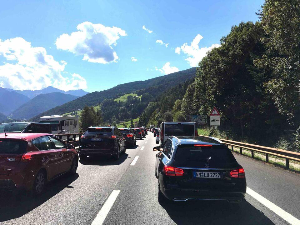 Sterzing, Stau, Autobahn, STF
