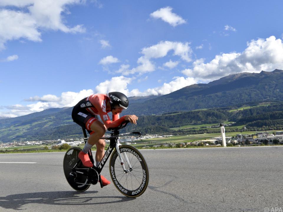 Tiroler Patrick Gamper wurde in Innsbruck WM-12. im U23-Zeitfahren