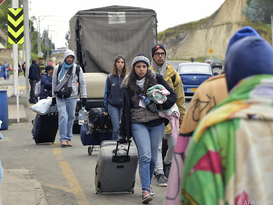 Venezolanische Regierung bestreitet, dass es ein Flüchtlingsproblem