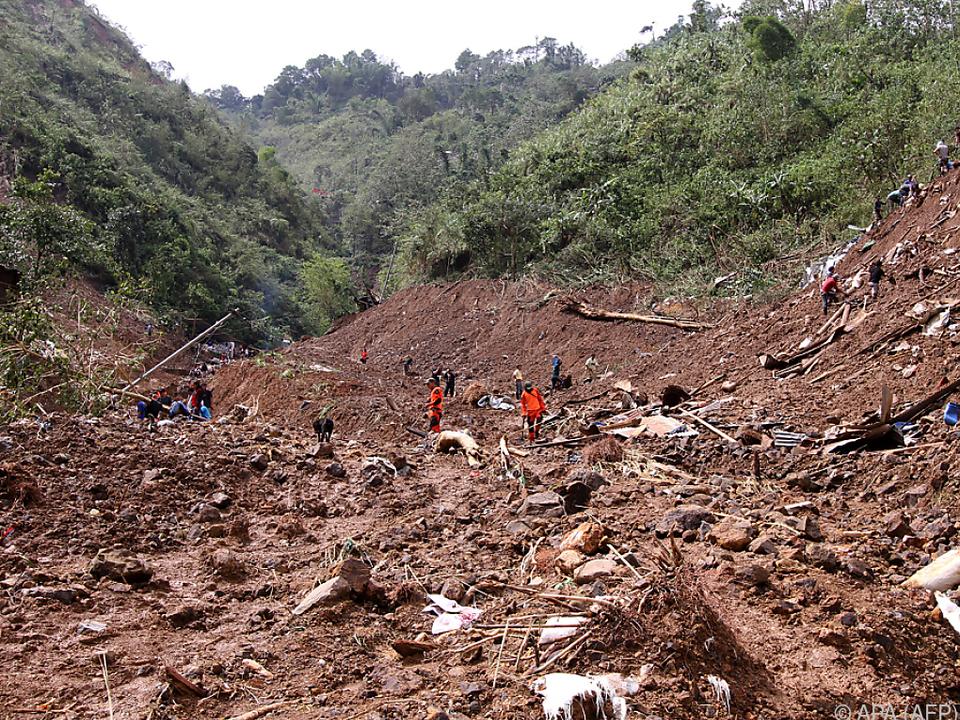 Verheerender Erdrutsch in Itogon auf den Philippinen