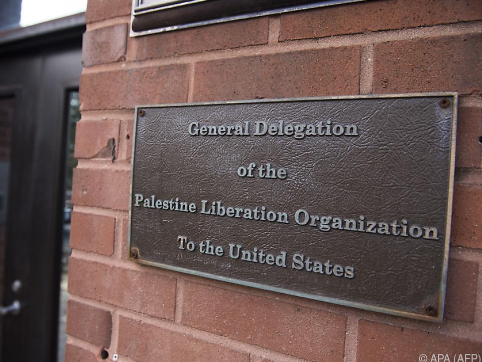 Vertretung der Palästinenser in Washington vor Schließung