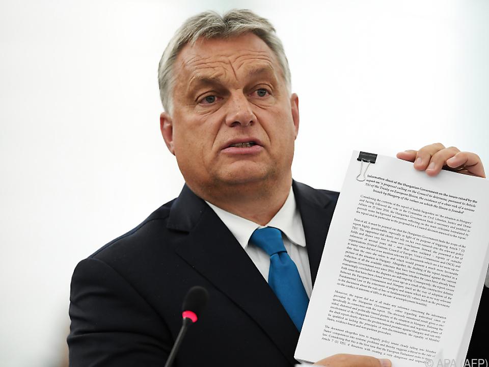 Viktor Orban im EU-Parlament -Ungarn droht ein Strafverfahren