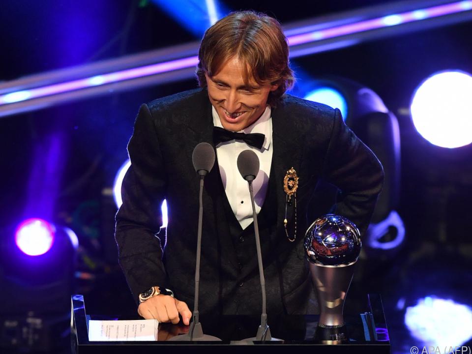 Weltfußballer Luka Modric ließ sich den Abend nicht verderben