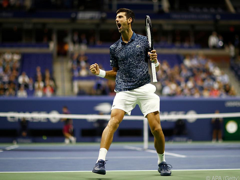 Wimbledonsieger Novak Djokovic spielt sein achtes US-Open-Finale