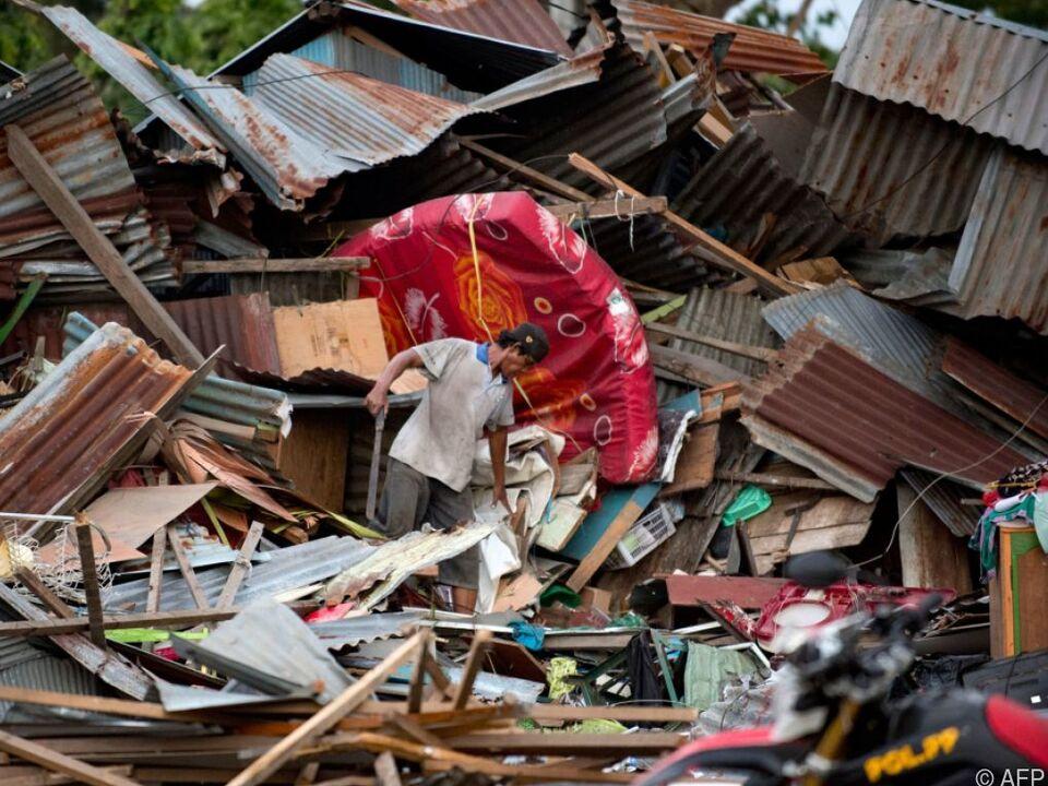 Zahlreiche Gebäude wurden zerstört