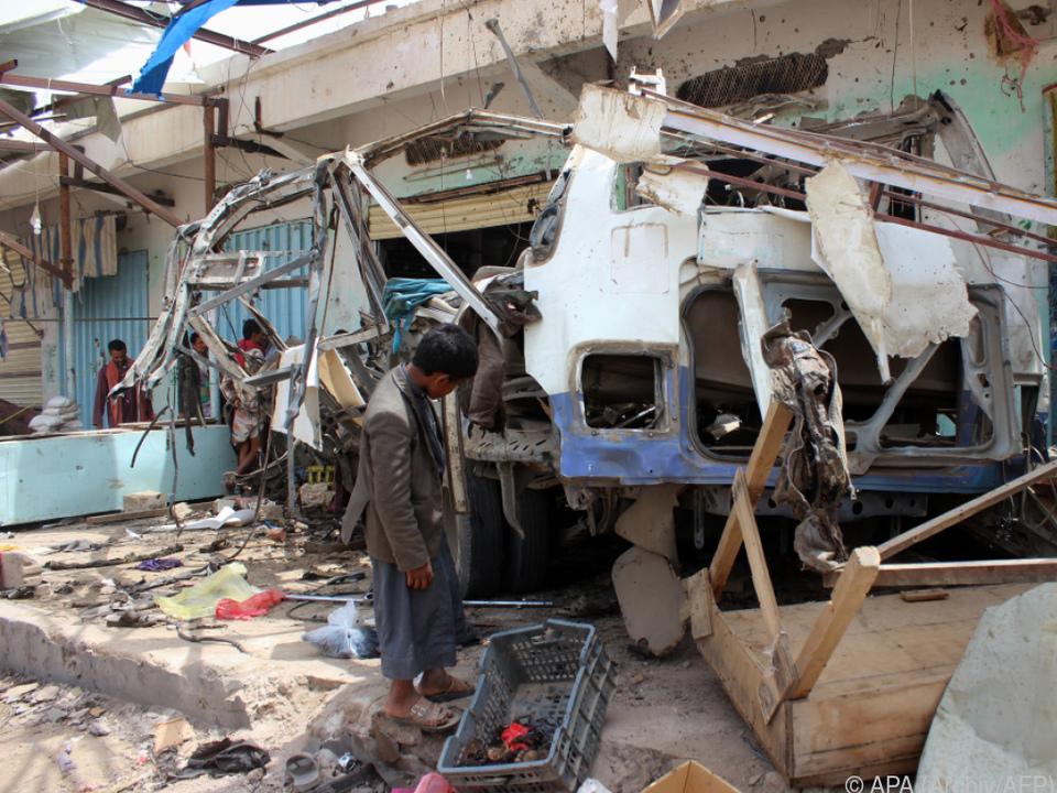 Zivilisten im Jemen sind oft Opfer von Angriffen