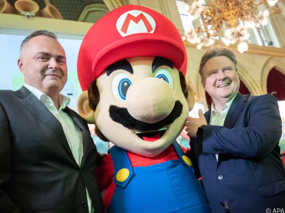 Auch ein Treffen mit Super Mario stand auf dem Programm