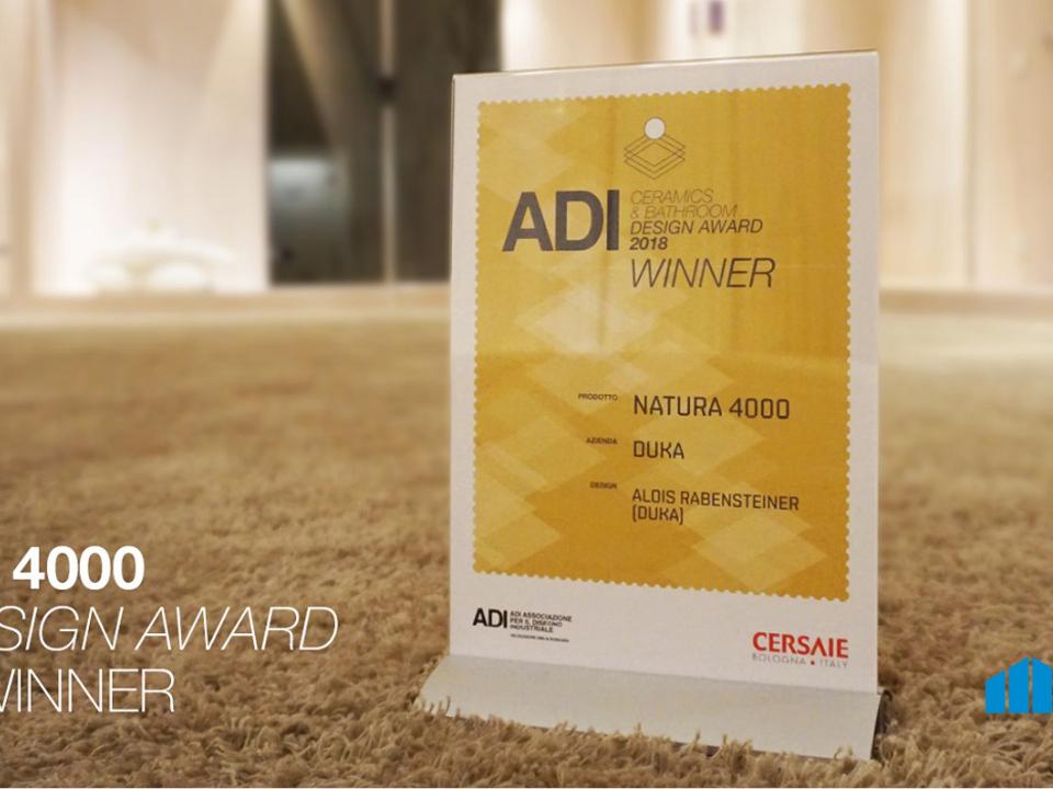 Auszeichnung ADI Ceramics & Bathroom Design Award 2018 an duka auf der Cersaie 2018
