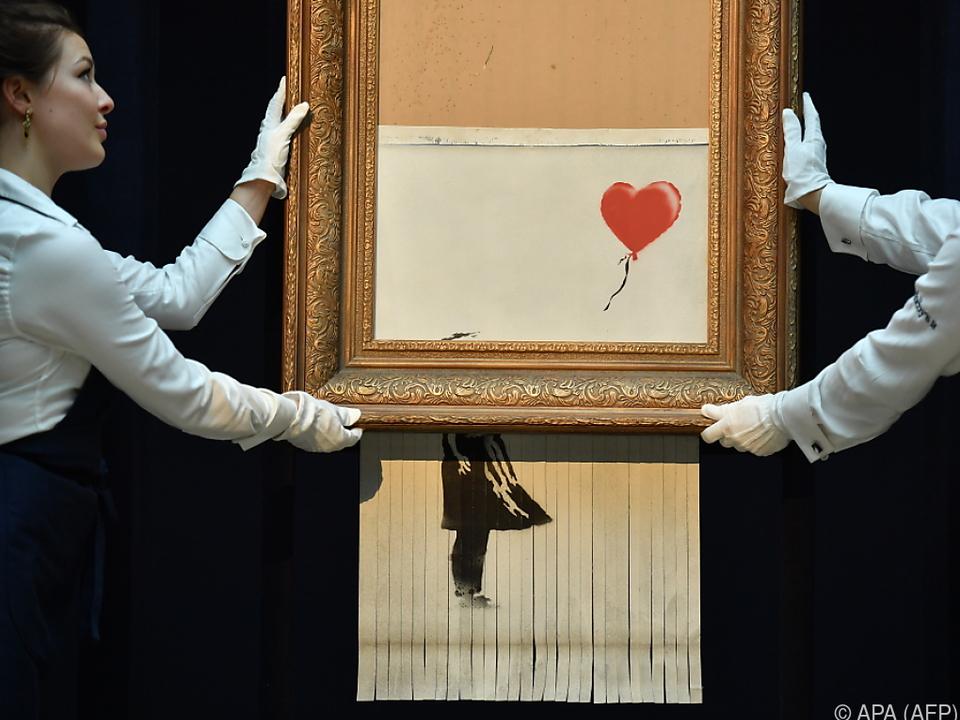Banksy wollte sein Werk vollends zerstören