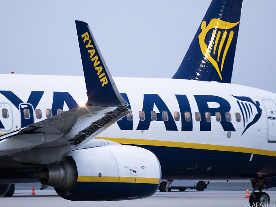 Betroffen sind vor allem Maschinen von Ryanair