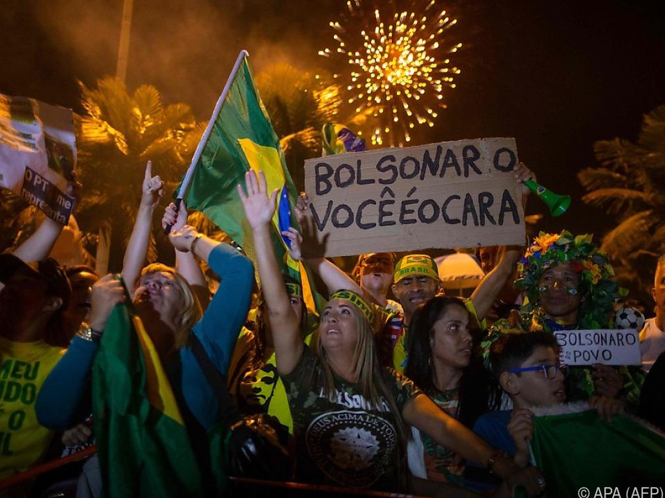 Bolsonaros Anhänger jubelten