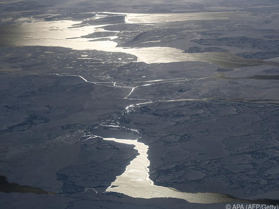 Das arktische Meereis geht immer weiter zurück