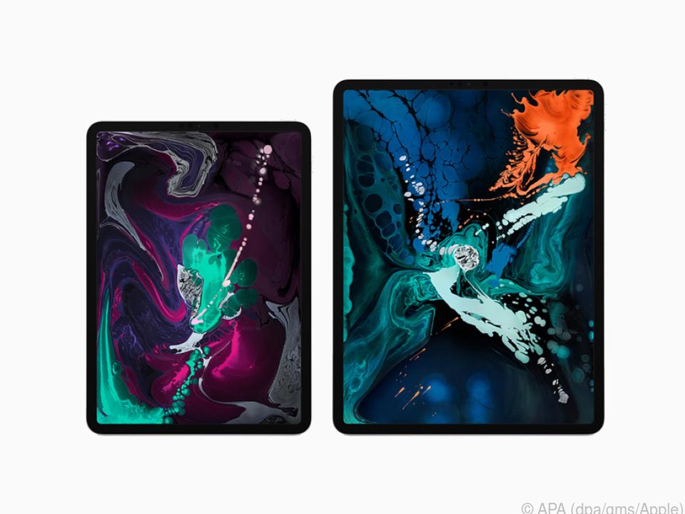 Das iPad Pro gibt es in zwei Größen mit Retina-Displays in 11 und 12,9 Zoll