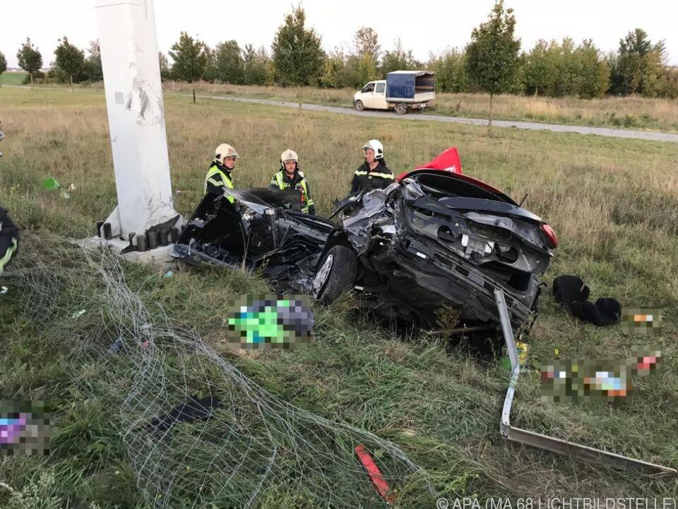 Das Unfallauto der 43-Jährigen
