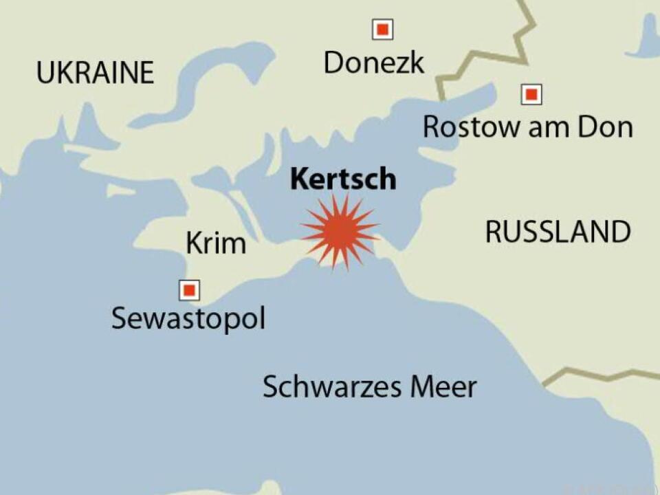 Der Anschlag fand in Kertsch, ganz im Osten der Krim, statt