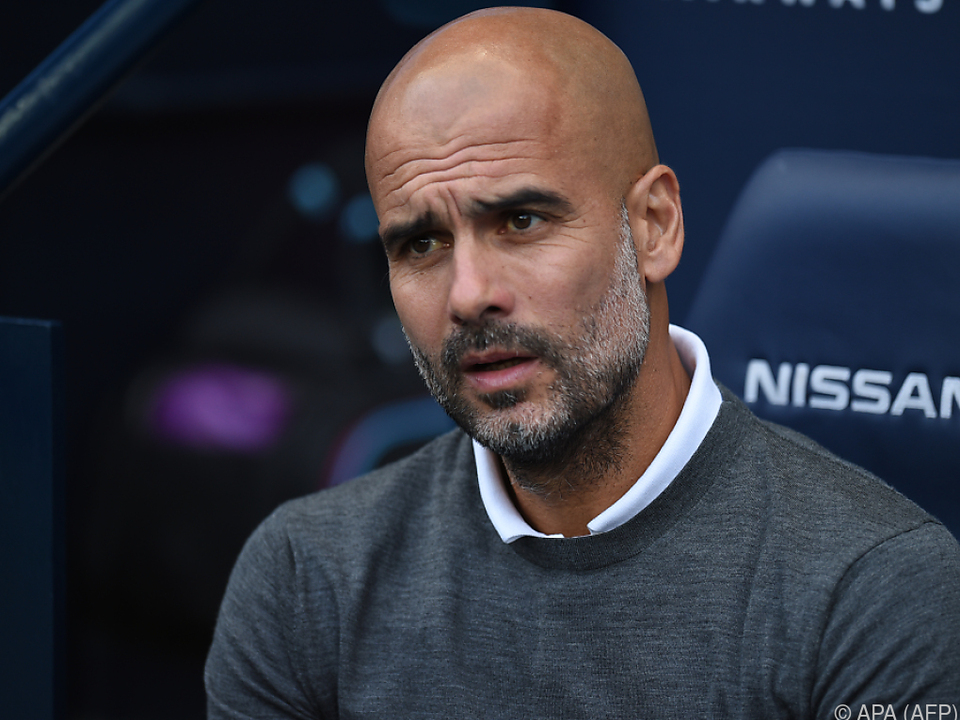 Der City-Trainer Guardiola will einen Sieg