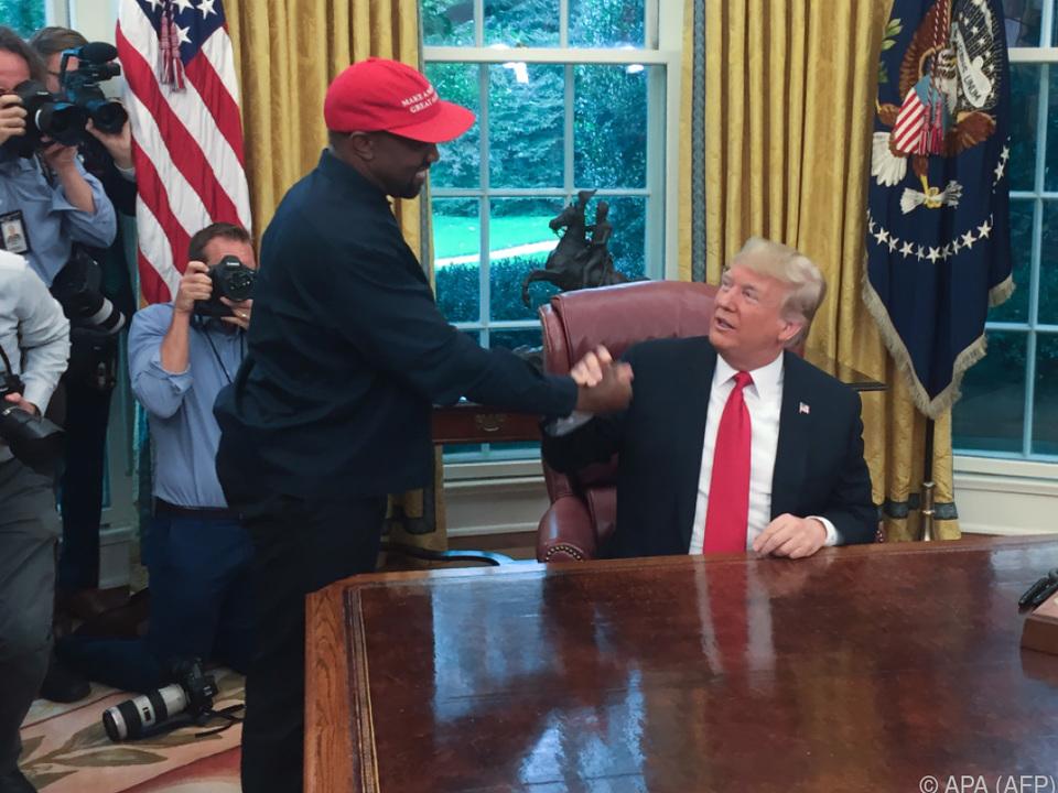 Der Rapper auf Besuch beim US-Präsidenten