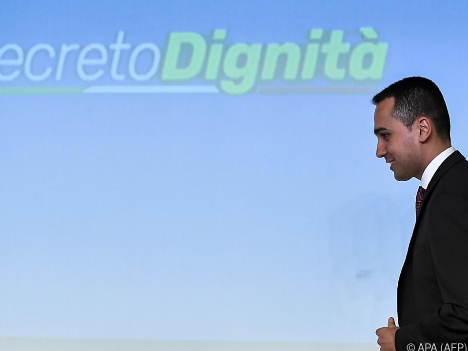 Di Maio will den Finanzrahmen nicht sprengen