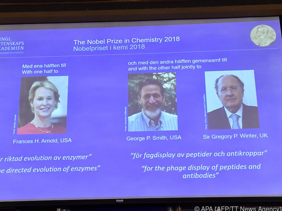 Die diesjährigen Gewinner des Chemie-Nobelpreises