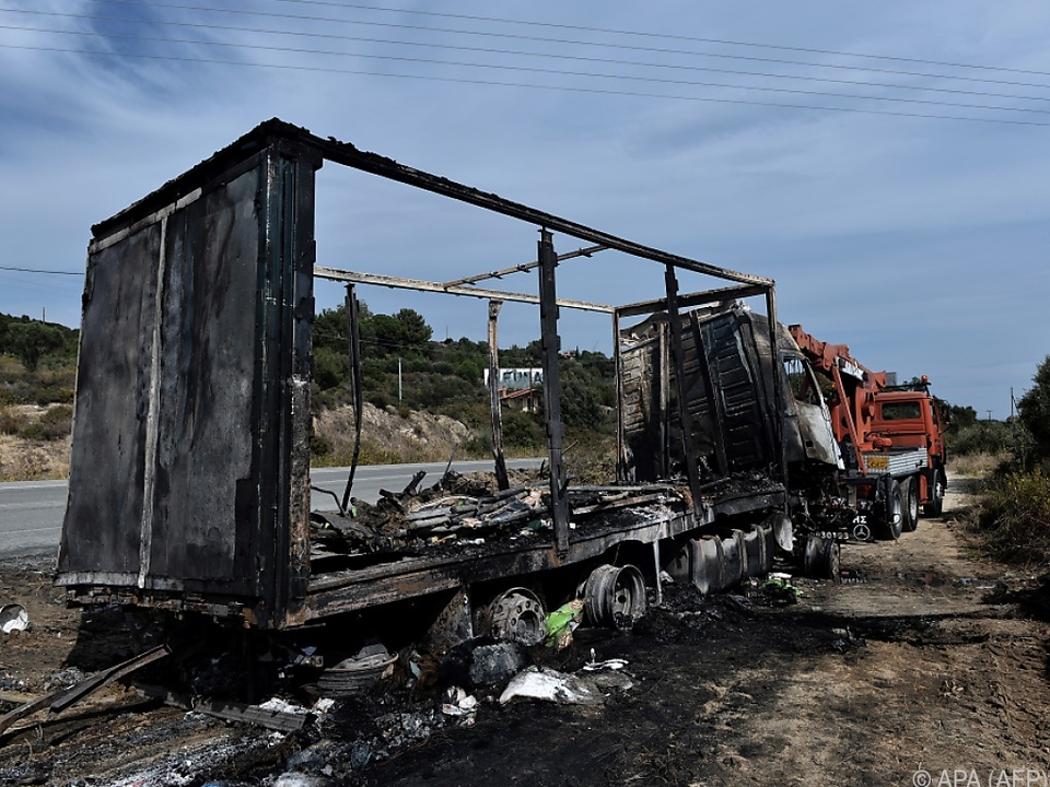 Die Feuerwehr konnte nur noch verkohlte Leichen bergen