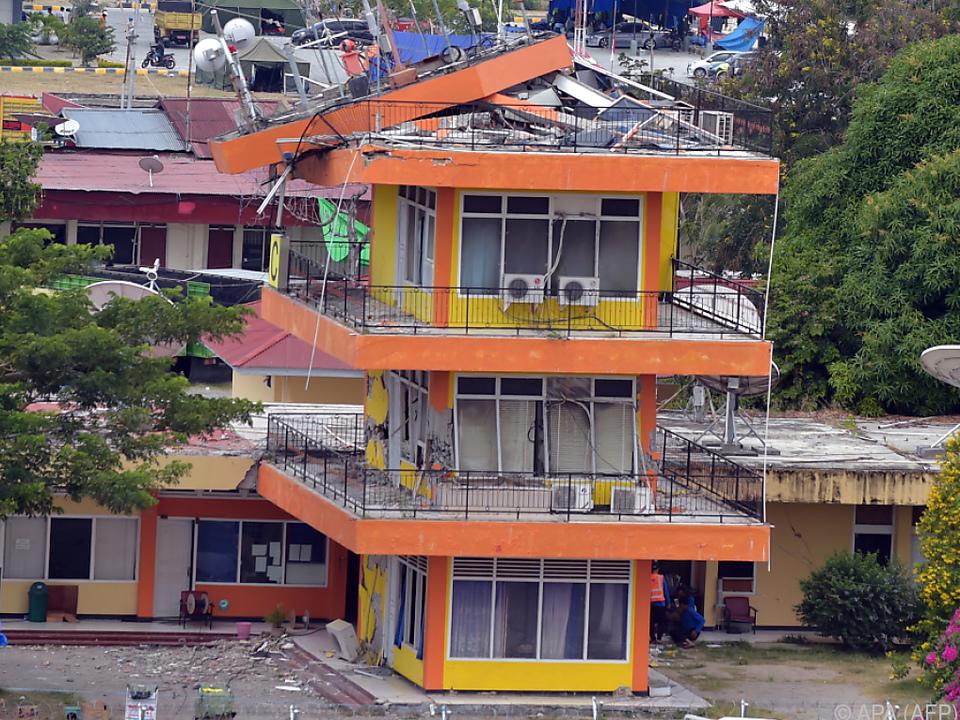 Die Küstenstadt Palu wurde am schwersten getroffen