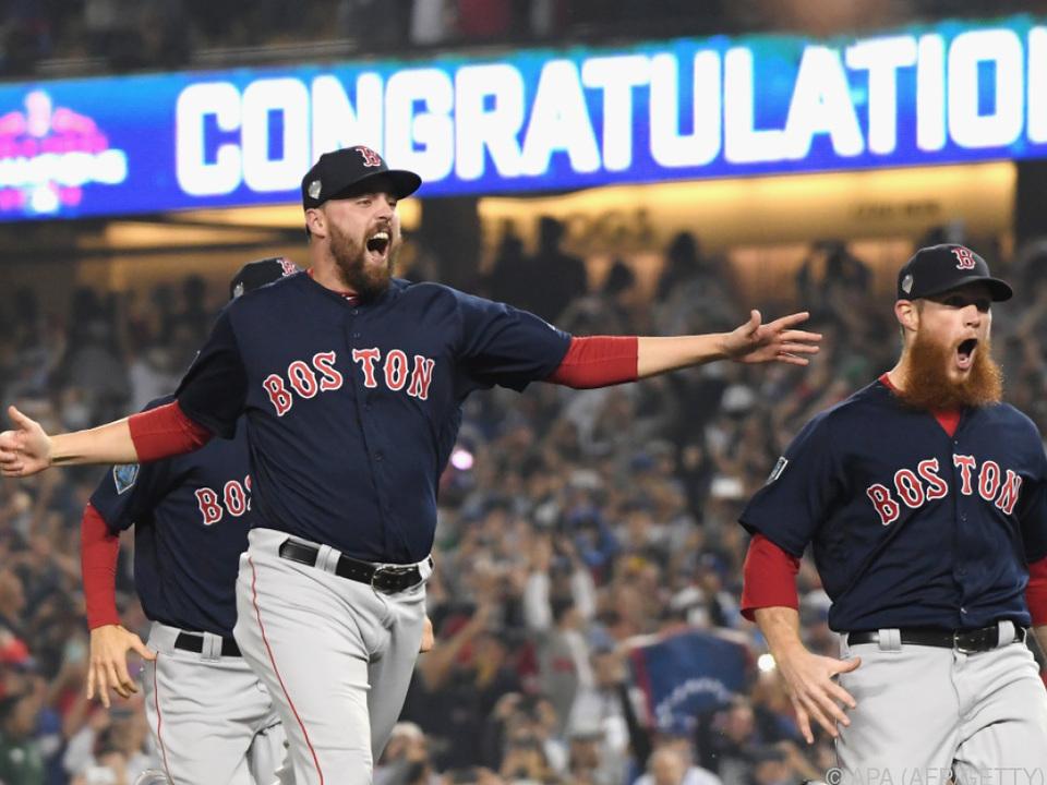 Die Spieler der Red Sox haben Grund zum Feiern