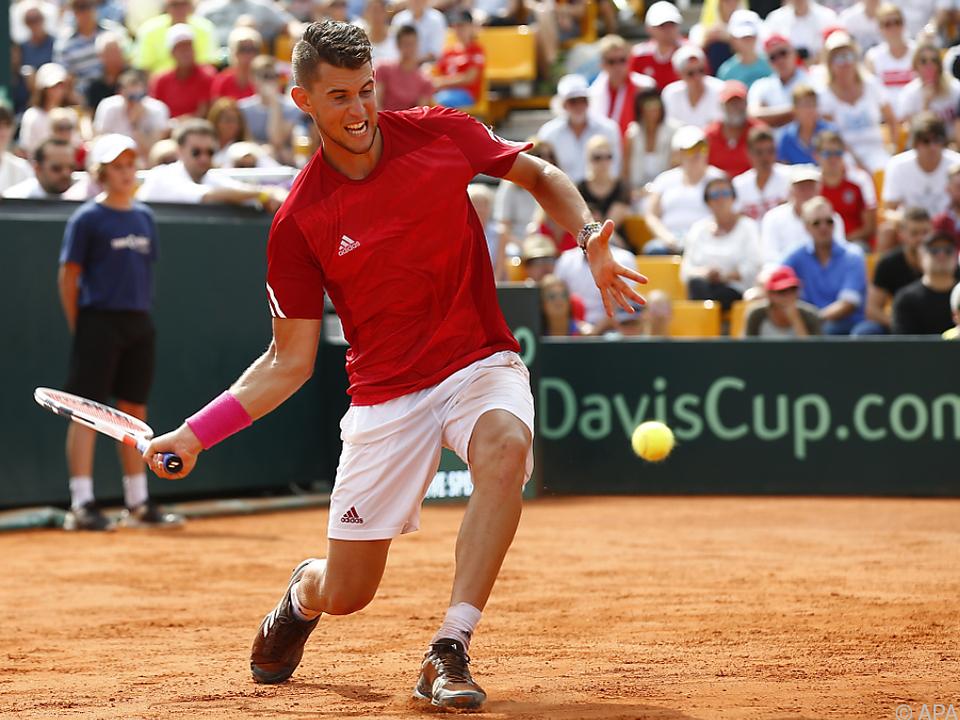 Dominik Thiem kämpft für Österreich im Davis Cup