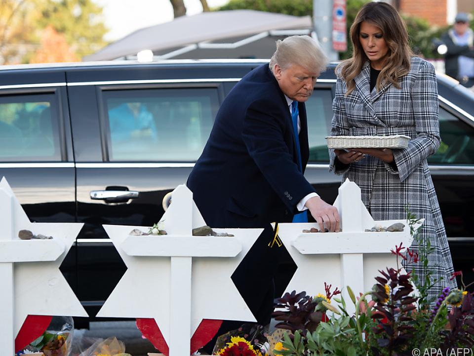 Donald und Melania Trump in Pittsburgh