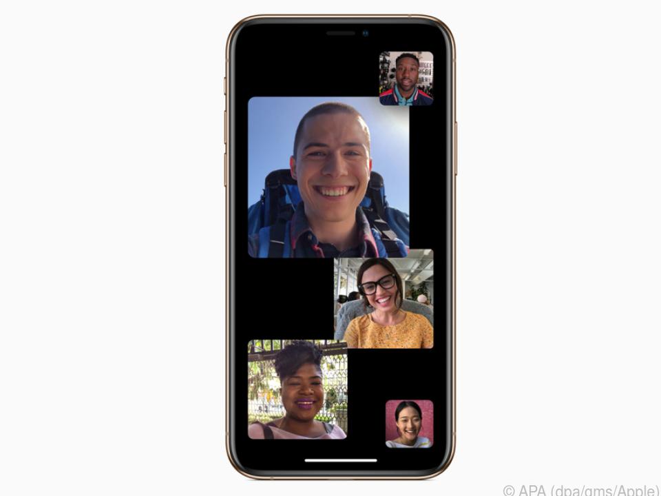 Facetime hebt die aktivsten Nutzer im Gruppen-Videochat automatisch hervor