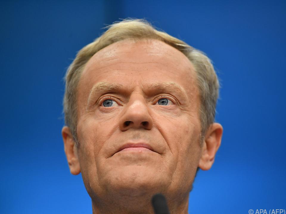 EU-Ratspräsident Tusk zeigt sich skeptisch