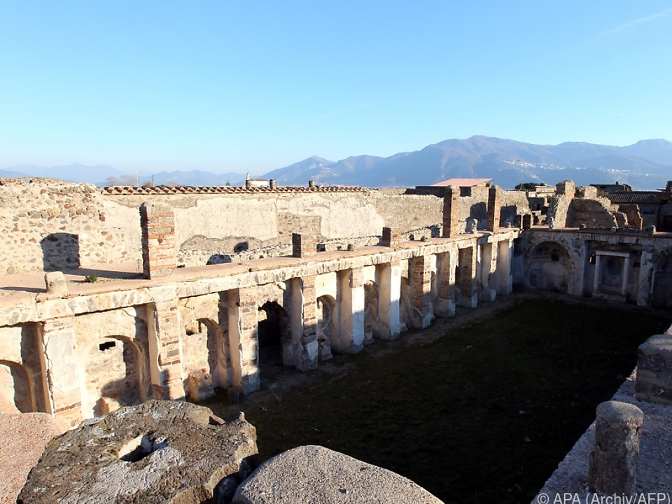Flucht vor der Asche in Pompeji